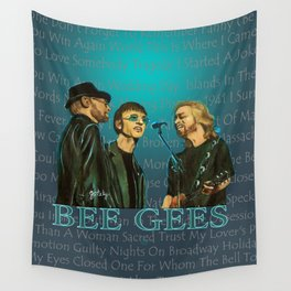 Bee Gee's Poster Wall Tapestry