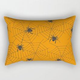 Halloween Spider Illustration Rectangular Pillow