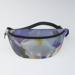 Irises in Blue and White Fanny Pack