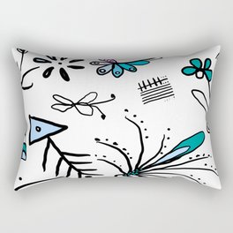 Twiggy pop garden Rectangular Pillow