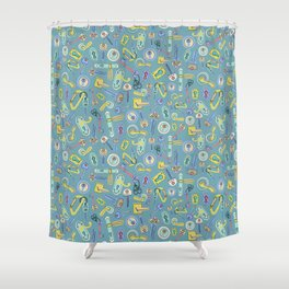 Moving Home House Warming - Blue Shower Curtain