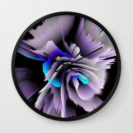 3d flower lilac blue Wall Clock