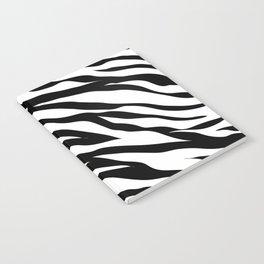 modern safari animal print black and white zebra stripes Notebook