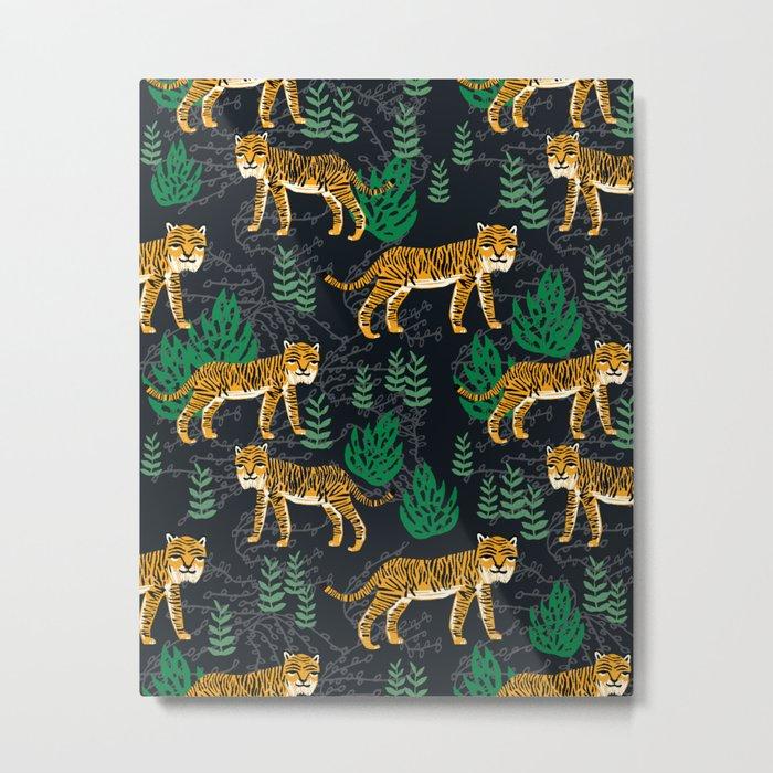 Safari Tiger by Andrea Lauren Metal Print