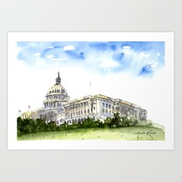 United States Capital Building Art Print