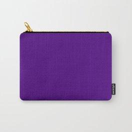Solid Bright Purple Indigo Color Carry-All Pouch