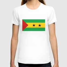 Sao Tome and Principe country flag T-shirt