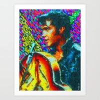 elvis presley Art Prints featuring Elvis Presley by Kevin Rogerson