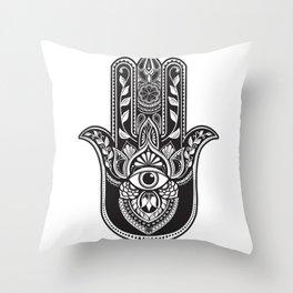 Dark Hamsa Throw Pillow