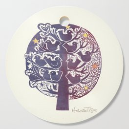 Untitled (tree), etching Cutting Board
