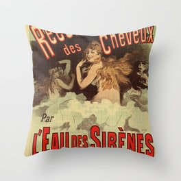 Mermaid water for hairdressers Throw Pillow