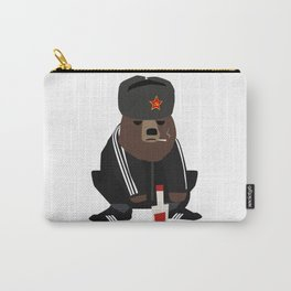 Gopnik bear squatting on the street  Carry-All Pouch