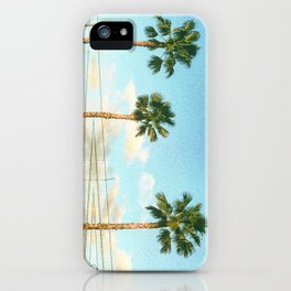 Palm Trees and Power lines in Los Angeles iPhone Case