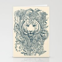 leaf Stationery Cards featuring Tiger Tangle by micklyn
