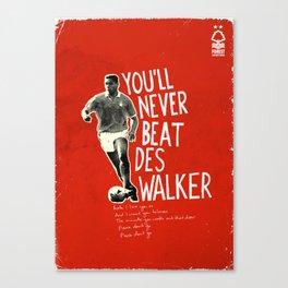 Nottingham Forest Legends Series: Des Walker Graphic Poster Canvas Print
