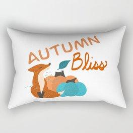 Autumn Bliss Fox Rectangular Pillow