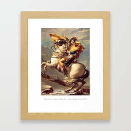 Napoleon Crossing the Alps - Jacques-Louis David Framed Art Print