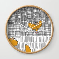 Pencil Birds Wall Clock