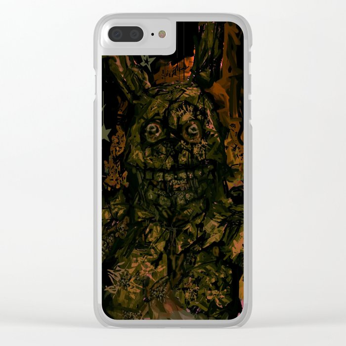 Springtrap Portrait Clear iPhone Case