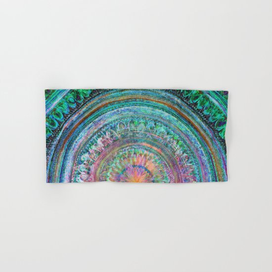 Pink and Turquoise Mandala Hand & Bath Towel