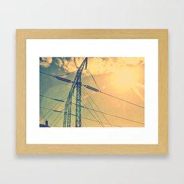 Holding The Power Framed Art Print