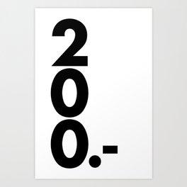 200.- Art Print