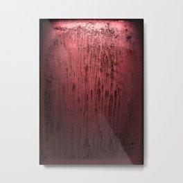 Old red window at night Metal Print