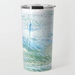 Mint cream abstract watercolor Travel Mug