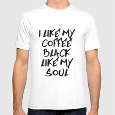 Black like my soul Mens Fitted Tee MEDIUM White