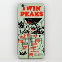 map iPhone & iPod Skins featuring Twin Peaks Map by Robert Farkas