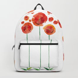The poppy's bonfire (of emotions and petals) Backpack