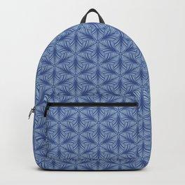 Original Handmade Pattern - Blue Tropical Leaves Backpack