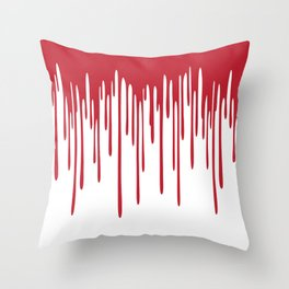 Blood Drippings Throw Pillow