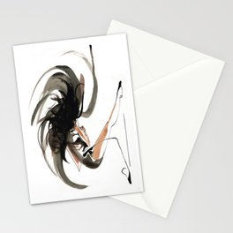 Expressive Ballerina Dance Drawing Stationery Cards