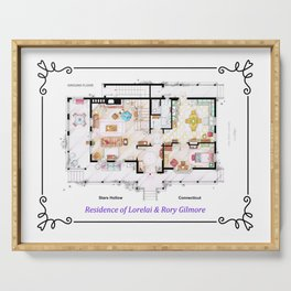 House of Lorelai & Rory Gilmore from GILMORE GIRLS- Ground Floor Serving Tray