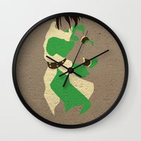 airbender Wall Clocks featuring Toph by JHTY