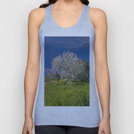 almond blossom in a meadow Unisex Tank Top