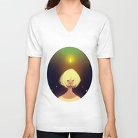 crystals V-neck T-shirts featuring Crystals by Pods