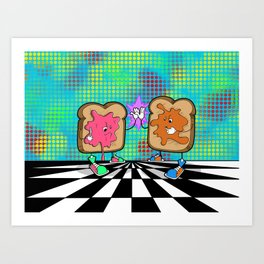 Peanut butter jelly time! Art Print