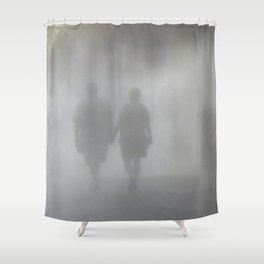 Blindly Walking into the Unknown Shower Curtain