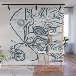 Movement in snow Wall Mural