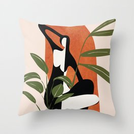 Abstract Female Figure 20 Throw Pillow