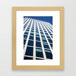 Abstract tilt shift view of skyscraper facade Framed Art Print