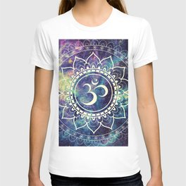 Om Mandala : Deep Pastels Galaxy T-shirt