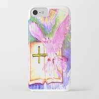bible iPhone & iPod Cases featuring THE HOLY BIBLE by KEVIN CURTIS BARR'S ART OF FAMOUS FACES