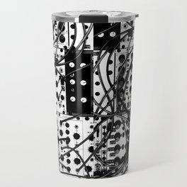 analog synthesizer system - modular black and white Travel Mug