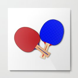 Two Table Tennis Bats Metal Print