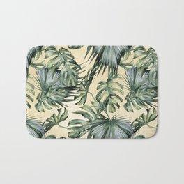 Palm Leaves Classic Linen Bath Mat