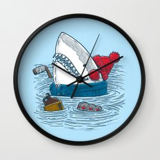 Great White North Shark Wall Clock