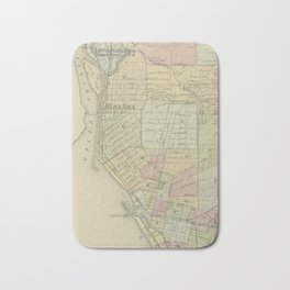 Vintage Map of Buffalo NY (1866) Bath Mat